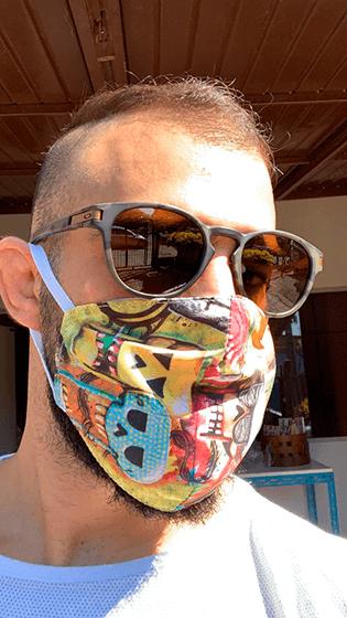 Máscara de Proteção William Piuí Turquesa 6