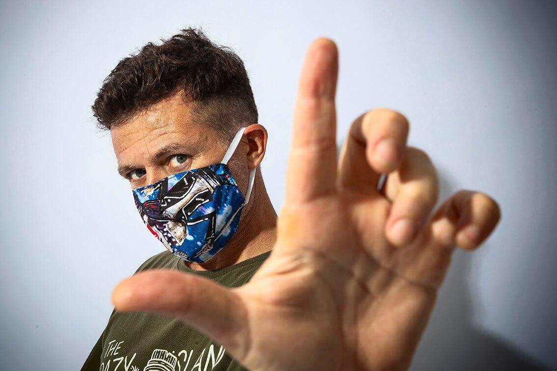 Máscara de Proteção William Piuí Turquesa 1